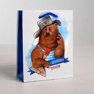 Подарочный пакет «Мишка с балалайкой» 18 × 23 × 8 см купить Минск +375447651009