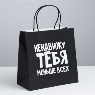 Подарочный пакет «Ненавижу тебя» 22 × 12 × 11 см купить Минск +375447651009