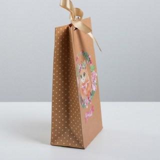 Подарочный пакет с лентой «Котенок» 13х 23 × 7 см купить в Минске +375447651009