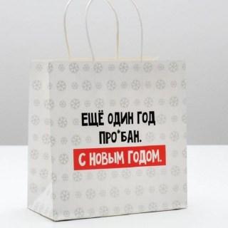Подарочный пакет «С Новым Годом» 22 × 22 × 11 см купить Минск +375447651009