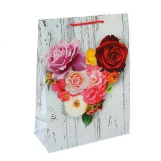 Подарочный пакет «Сердце из цветов» купить в Минске +375447651009