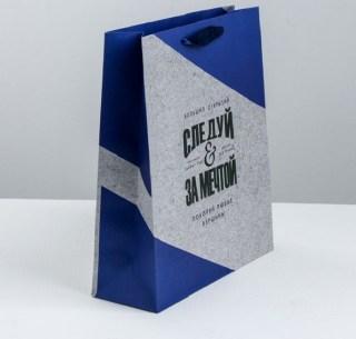 Подарочный пакет «Следуй за мечтой» 27 × 23 × 8 см купить Минск +375447651009