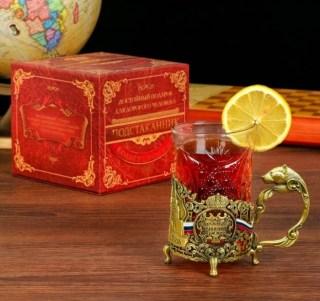Подарочный подстаканник со стаканом «Лучший директор» купить в Минске +375447651009