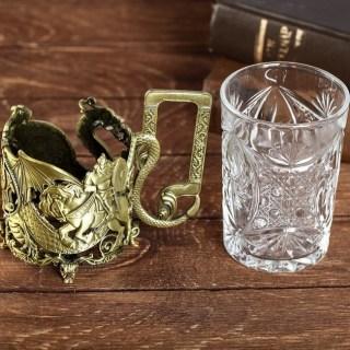 Подстаканник со стаканом «100% Мужик» купить в Минске +375447651009