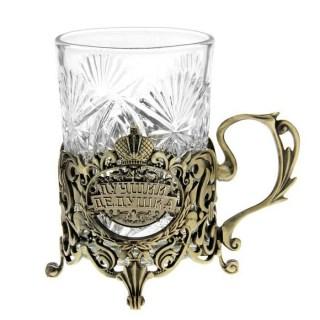 Подстаканник со стаканом «Лучший дедушка» Минск +375447651009