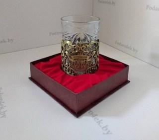 Подстаканник со стаканом «Лучший папа» цвет: бронза купить