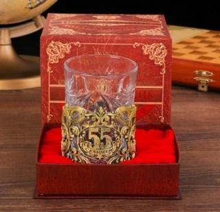 Подстаканник юбилейный со стаканом «55 лет» купить Минск +375447651009