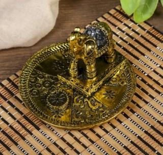 Подставка для благовоний «Золотой слон» купить в Минске +375447651009