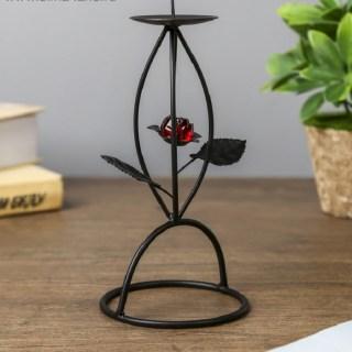 Подсвечник декоративный «Рубиновый цветок»на 1 свечу купить в Минске +375447651009