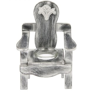 Подсвечник декоративный «Садовая скамья» на 1 свечу серый купить в Минске +375447651009