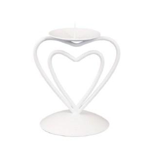 Купить Подсвечник декоративный «Сердца»  белый купить в Минске +375447651009