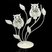 Подсвечник декоративный «Совушки» белый на 2 свечи купить в Минске +375447651009