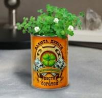 Растущая трава в банке «Зеленая братва» клевер купить Минск +375447651009