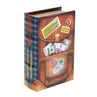 Сейф-книга «Денег много не бывает» кожа купить Минск