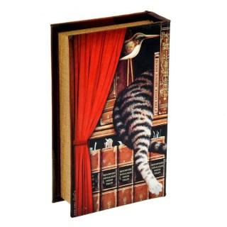 Сейф-книга «Кот на книжной полке» купить в Минске +375447651009