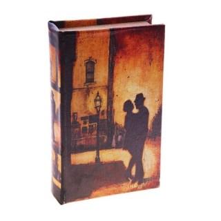 Сейф-книга кожа «Танец под фонарями» Минск +375447651009