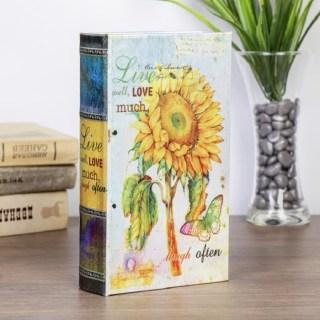 Сейф-книга «Подсолнух» 21 см шелк купить в Минске +375447651009