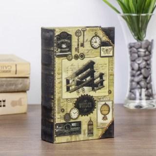 Сейф книга «Ретро самолет» обтянута шелком купить Минск +375447651009