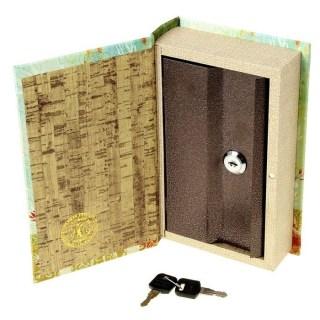 Сейф книга «Цветная сова» обтянута кожей купить в Минске +375447651009