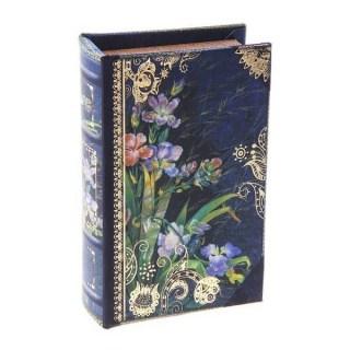 Сейф-книга «Цветы Ирисы» кожа Минск +375447651009