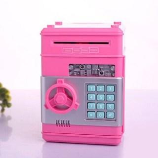 Сейф с купюроприемником розовый купить