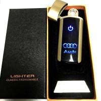 Сенсорная USB зажигалка «Audi» золотистая Минск +375447651009