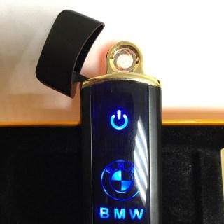 Сенсорная USB зажигалка «BMW» черный глянец Минск +375447651009