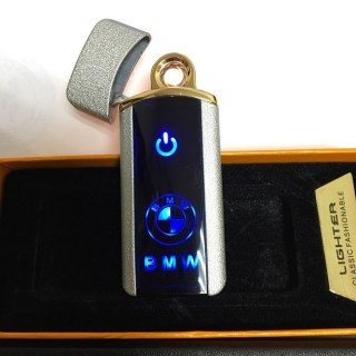 Сенсорная USB зажигалка «BMW» серебристая Минск +375447651009