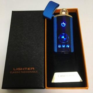 Сенсорная USB зажигалка «BMW» синяя матовая Минск +375447651009