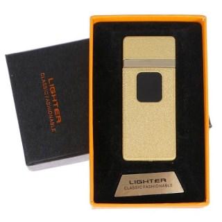 Сенсорная USB зажигалка «LIGHTER» золотистая Минск +375447651009