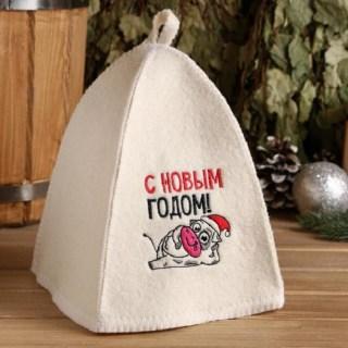 Шапка для парной «С Новым Годом» купить в Минске +375447651009