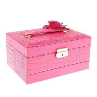 Шкатулка для украшений с кодовым замком «Роза» розовая купить в Минске +375447651009