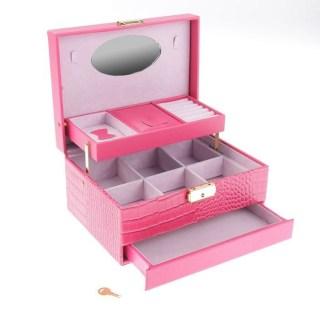 Шкатулка для украшений с замком «Роза» розовая купить в Минске +375447651009