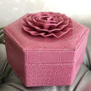 Шкатулка для украшений «Цветок» розовая купить в Минске +375447651009