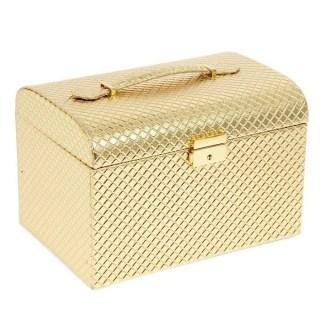шкатулка для украшений золотой сундучок купить