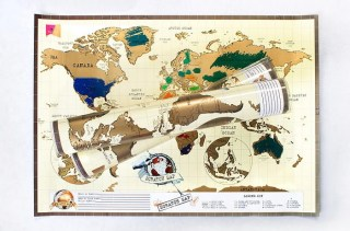 Скретч карта мира на английском в Минске