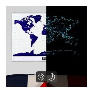 Скретч карта Мира светящаяся на русском языке купить Минск