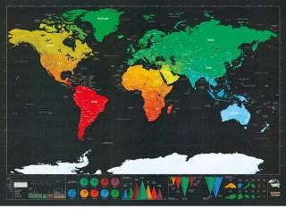 Скретч-карта «Покорение мира» dark editoin купить в Минске +375447651009