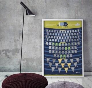 Скретч-постер #100 дел на на английском купить