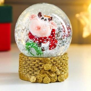 Снежный шар «Богатый бычок» Минск +375447651009
