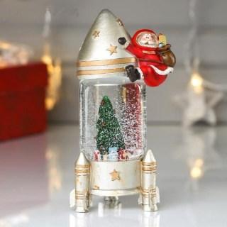 Снежный шар «Дед Мороз- космонавт» купить в Минске +375447651009