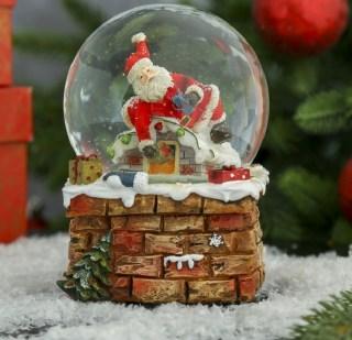 Снежный шар «Дед Мороз с подарками» музыкальный купить в Минске +375447651009