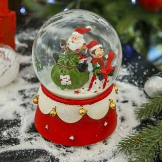 Снежный шар музыкальный «Дед мороз с подарками» купить в Минске +375447651009