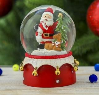 Снежный шар «Дед Мороз в лесу» купить в Минске +375447651009