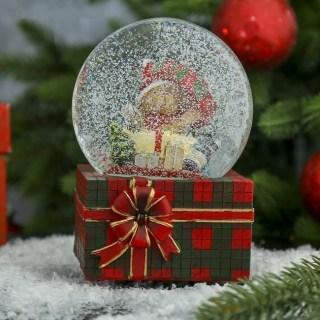 Снежный шар «Коробка с подарками» музыкальный купить в Минске +375447651009