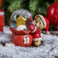Снежный шар «Мишка со звездой» Минск +375447651009