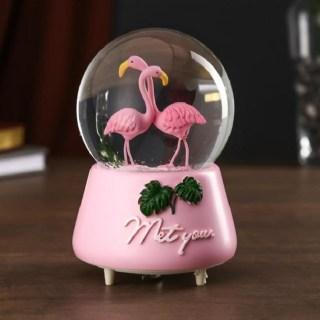 Снежный шар музыкальный «Фламинго» купить в Минске +375447651009