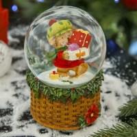 Снежный шар музыкальный «Мишка с подарками» купить в Минске +375447651009