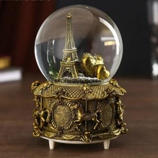 Снежный шар музыкальный «Париж» цвет: микс купить в Минске +375447651009