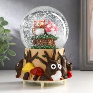Снежный шар музыкальный «Совята» купить в Минске +375447651009